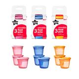 Tommee Tippee Essentials Basic Food Pots x3