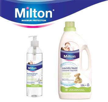Milton's Washing Up & Laundry Liquids