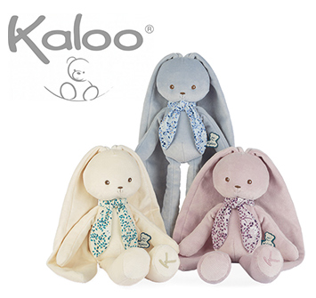 NEW from Kaloo: Take Along Plush Bunnies!