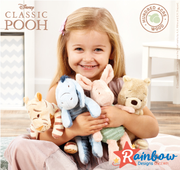 Winnie the Pooh Classic Hundred Acre Plush in Now!